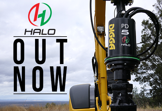 Now available Digga Halo Auger Alignment System