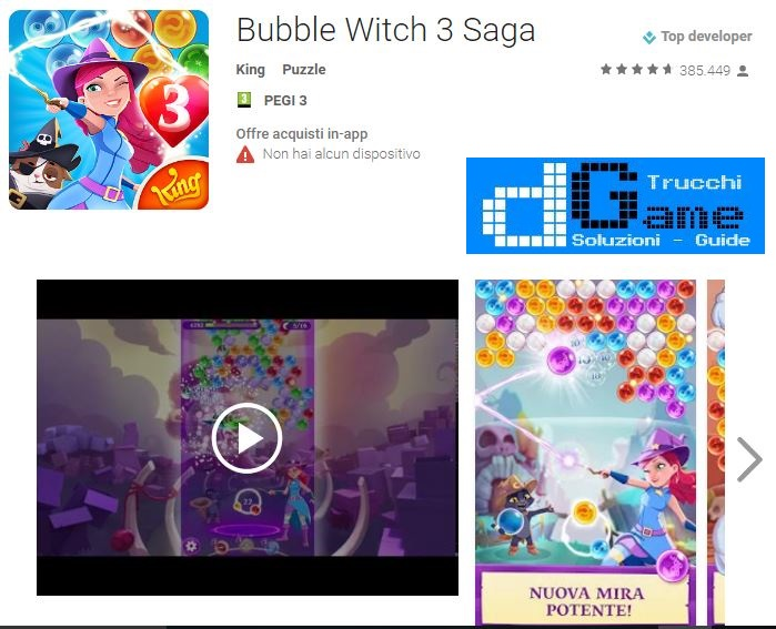 Soluzioni Bubble Witch 3 Saga livello 61 62 63 64 65 66 67 68 69 70 | Trucchi e Walkthrough level