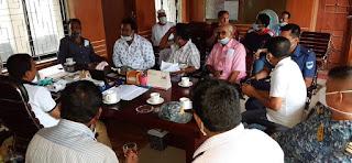 মোংলায় নতুন পরিস্থিতিতে করোনা মোকাবেলায়  আইন-শৃংখলা কমিটির সভা