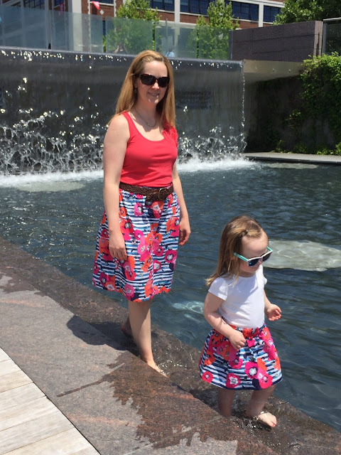 Mommy and Me gathered skirts | bonnieprojects.blogspot.com