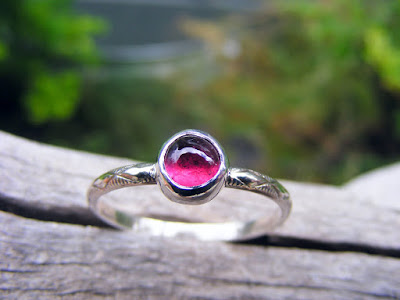 pink tourmaline october birthstone ring