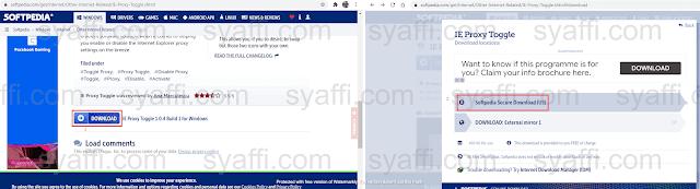 Melakukan aktivasi proxy browser dengan bypass proxy melalui IE Proxy Toggle