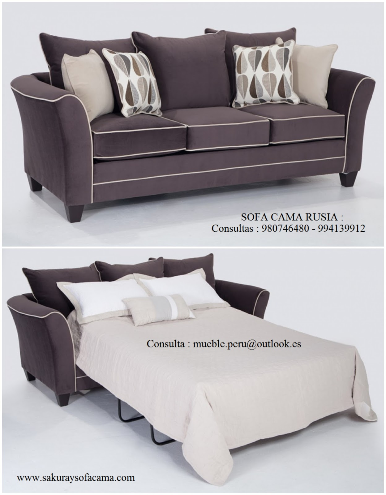 Mueble peru sakuray sofa cama rusia for Mueble divan cama
