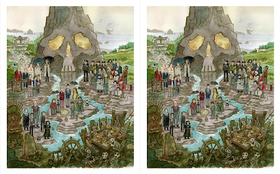 """The Goonies """"Treasure Below The Docks"""" Timed Edition Giclee Print by Scott C."""