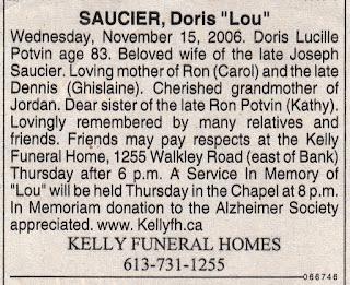 Lucille (Potvin) Saucier obituary