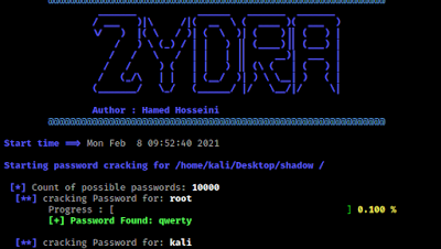 Zydra recovered linux users password