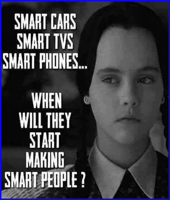 smart cars smart tvs smart phones when will they start making smart people?