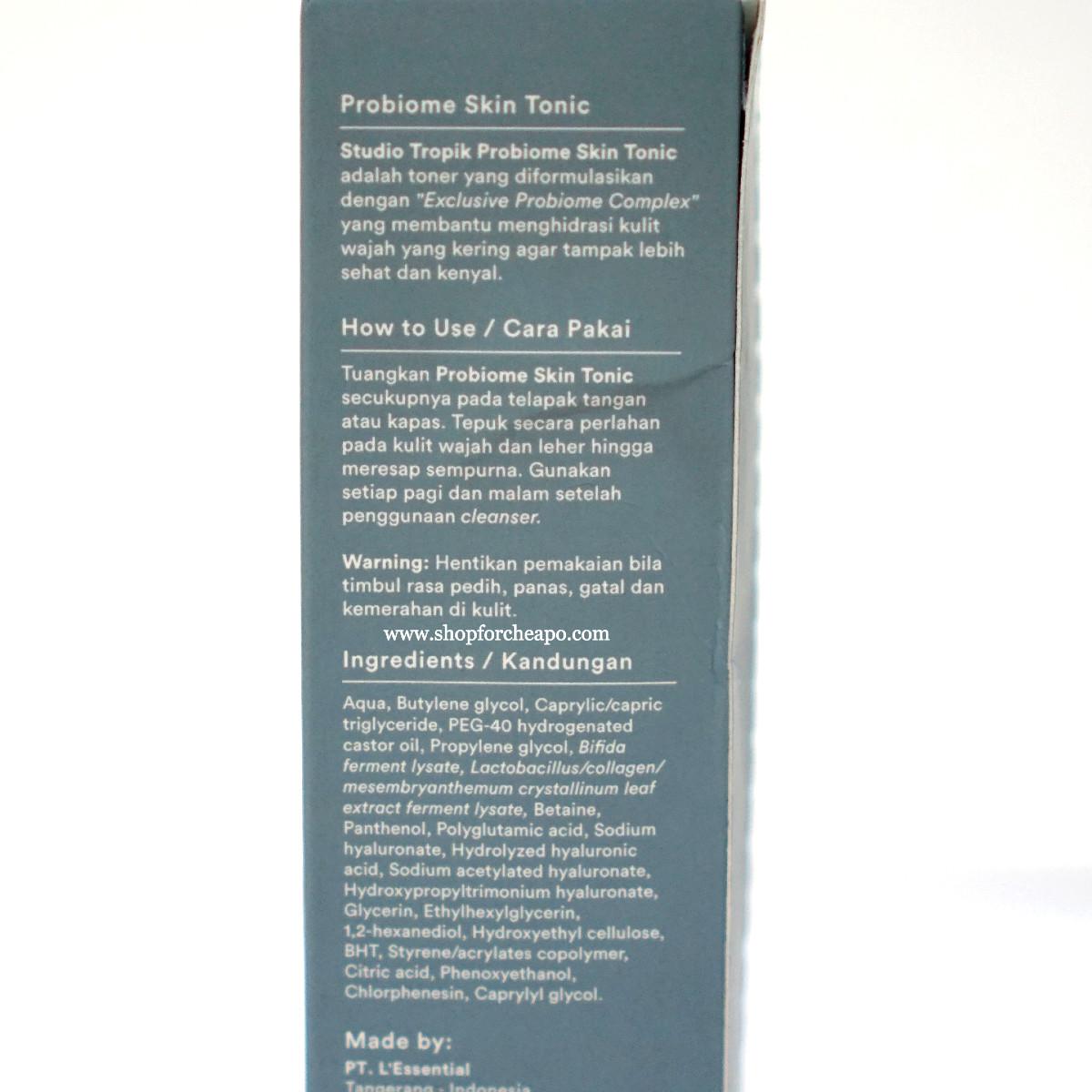 di kardus juga ada penjelasan lengkap dan komposisi lengkap