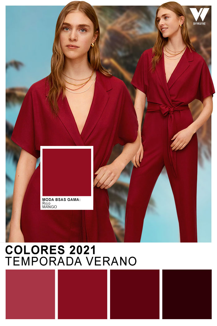 Colores de moda primavera verano 2021 rojo