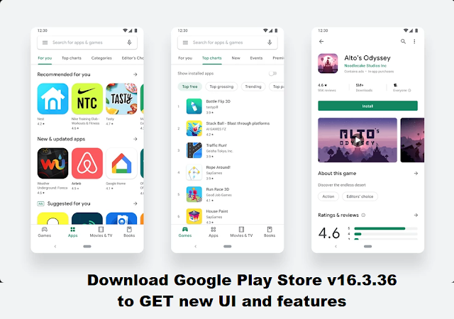 Google Play Store v16.3.36 APK to Download, Download Get PlayStore new Clean UI/Design and all features