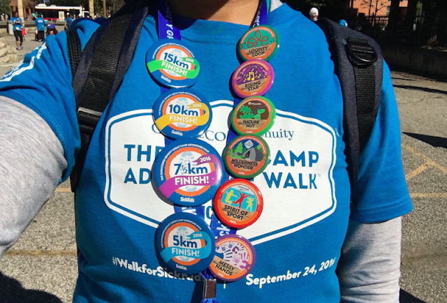 Badges - The 2016 Great Camp Adventure Walk - #WalkforSickKids