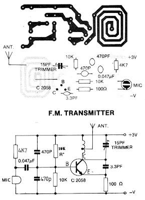Electronica Diagramas Circuitos: Mini transmisor FM
