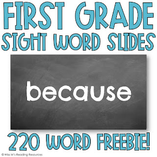 https://www.teacherspayteachers.com/Product/First-Grade-Sight-Word-Slides-5326519