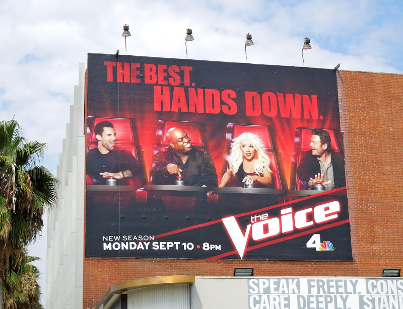 Voice season 3 NBC billboard