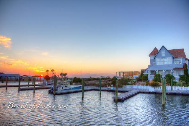Bald Head Island Marina at sunset