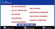 QA/ QC Engineer,QS,Accountant,Mechanical&Electric Engineer ,HSE JOBS