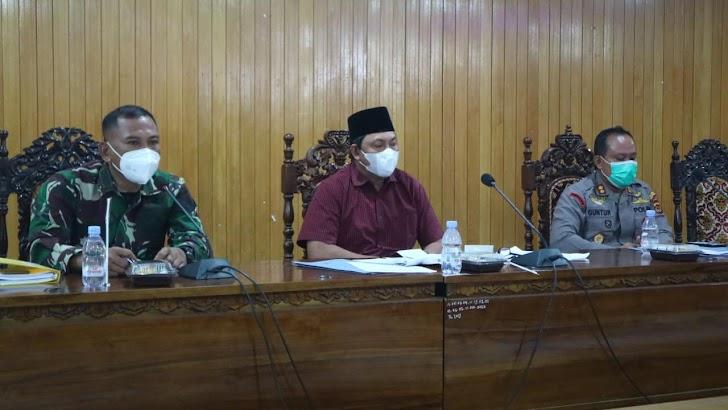 Wapub Hairan Pimpin Rapat Satgas Covid Bahasa Pemberlakuan Jam Malam