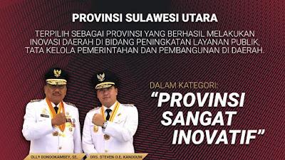 Terinovatif se-Indonesia, Gubernur Olly Raih Penghargaan IGA 2020