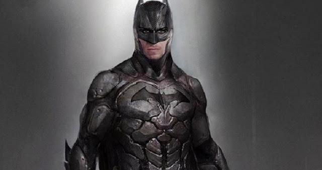 Concept art del traje del Batman de Ben Affleck