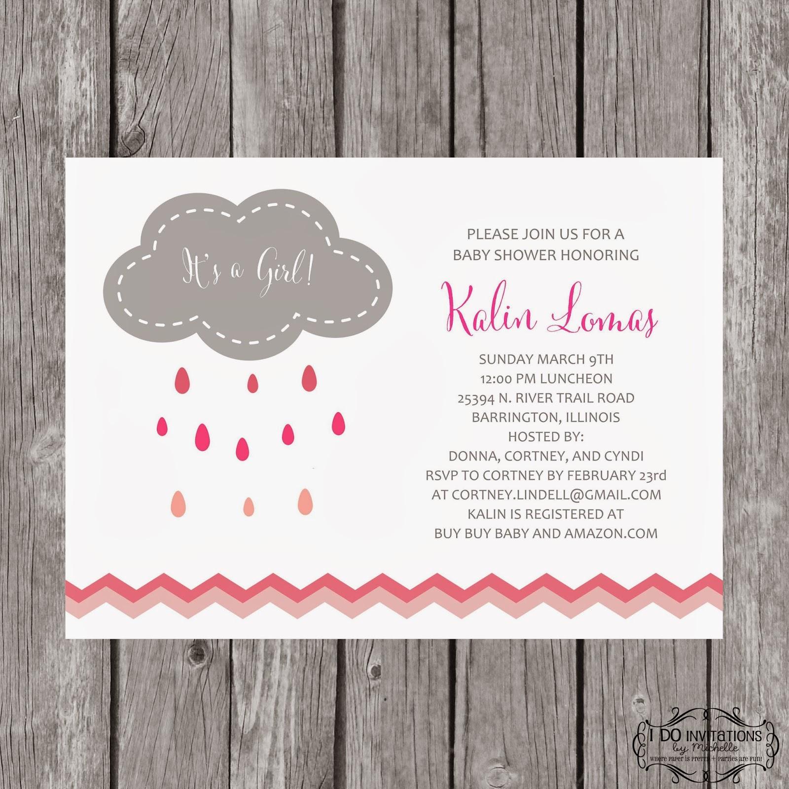 New Rain Cloud Baby Shower Invitations Ellery Designs