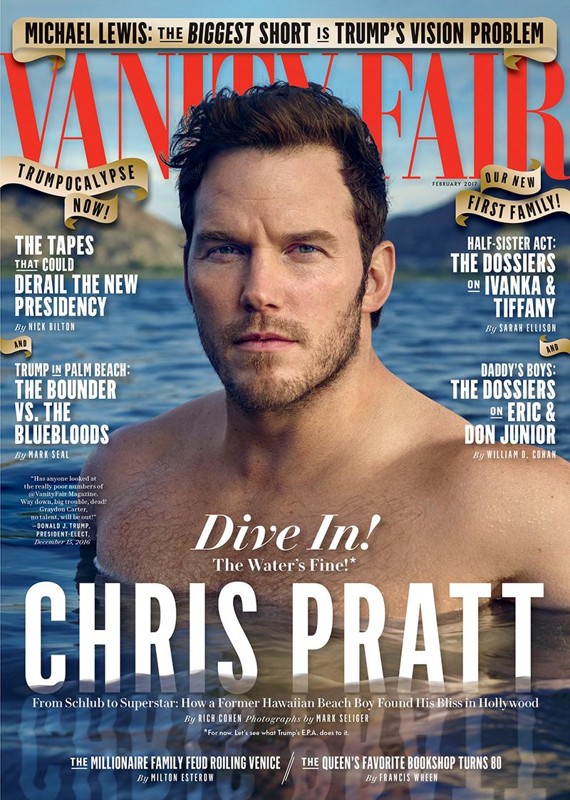Chris Pratt : Vanity Fair - February 2017 by Mark Seliger.