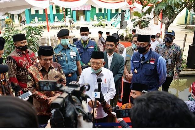 Ini Pesan Wapres Ma'ruf Amin Saat Kunjungi Pesantren Assobariyah Kota Sukabumi