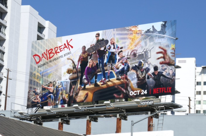 Daybreak Netflix series billboard