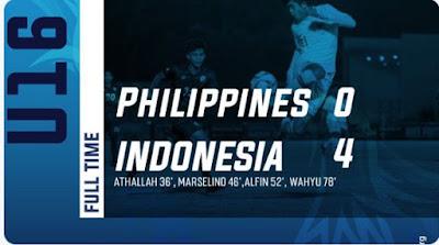 Timnas U-16 Libas Filipina 4-0
