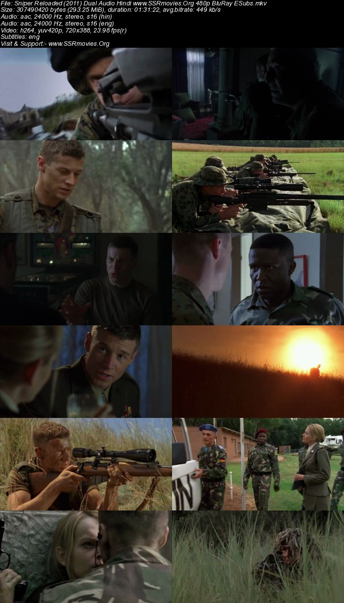 Sniper: Reloaded (2011) Dual Audio Hindi 480p BluRay 300MB