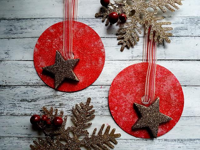 ozdoby świąteczne DIY, Boże Narodzenie, bombki z płyt CD