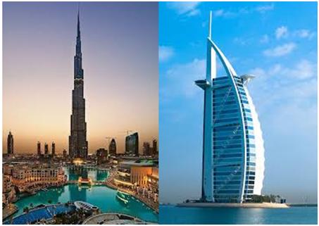 Burj al Arab dan Burj Khalifa