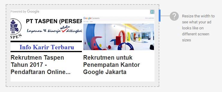 Iklan Google Adsense Matched Content