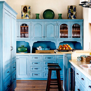 lovely colorful kitchen | Beautiful Abodes: The Colorful Kitchen