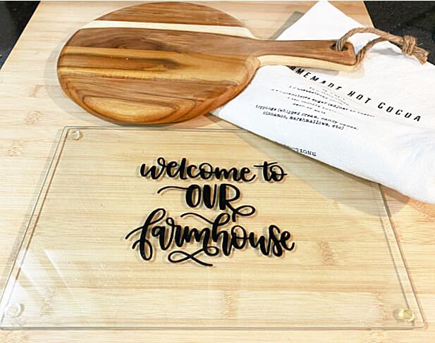 dollar store cutting board