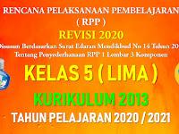RPP 1 Lembar Kelas 5 SD/MI Kurikulum 2013 Tahun Pelajaran 2020 - 2021