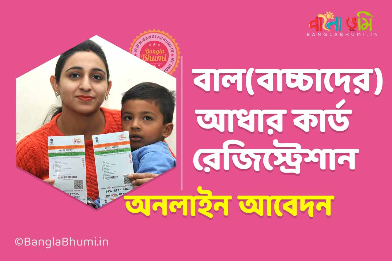 Child Aadhaar Card Online Application, Application Form