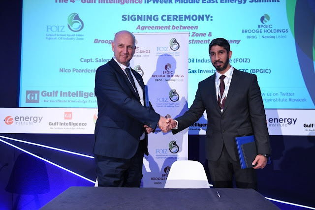 Image Attribute: Left to Right -> Nico Paardenkooper, CEO, Brooge Petroleum and Gas Investment Company (BPGIC) and Capt. Salem Al Hmoudi, Director, Fujairah Oil Industrial Zone (FOIZ) / Source: The Gulf Intelligence