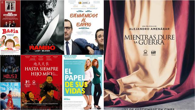 Estrenos de cartelera del fin de semana del 27 de Septiembre en España