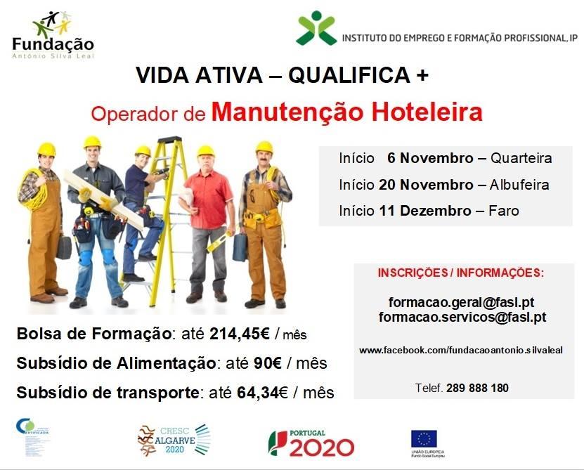 Formação profissional financiada em Faro – 2018