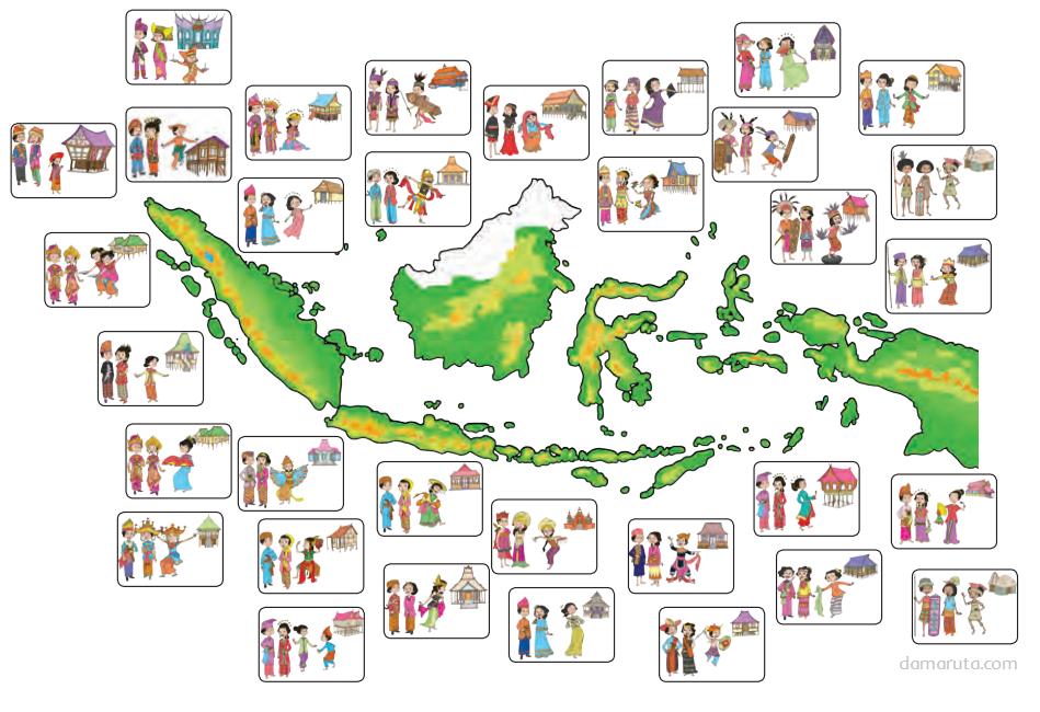 Peta indonesia dan provinsinya from publication: Budaya Daerah Berdasarkan Provinsi Asalnya Halaman 164 Belajar Kurikulum 2013