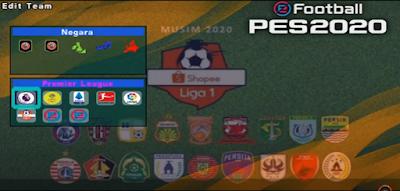 PES 2020 PPSSPP JOGRESS V3.5 Update Full Liga Eropa & Liga Indonesia