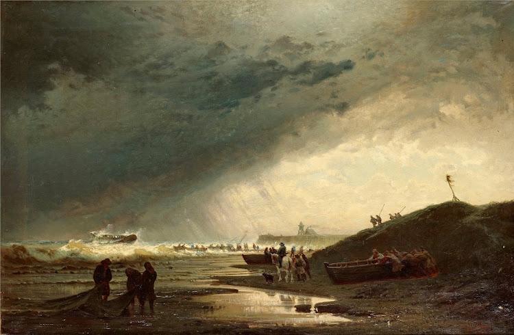 Hermann Eschke- Skeppsbrott vid kusten
