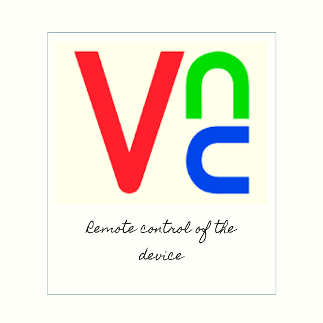 Control the device remotely using the VNC system