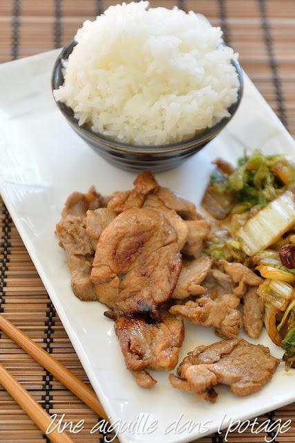 Porc au gingembre 豚の生姜焼き (shogayaki)