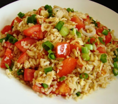 Tomato egg fried rice