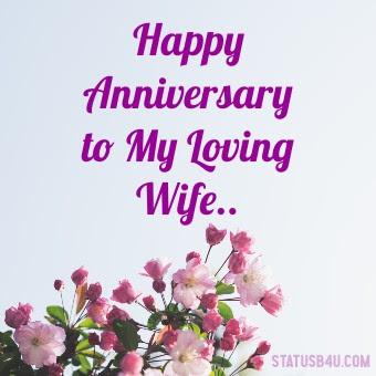 Happy Anniversary to my loving wife