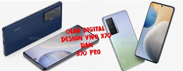 design Vivo X70 dan X70 pro