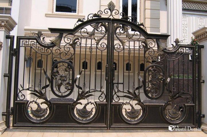 Desain Pintu Gerbang Pagar Rumah  Westil Desain