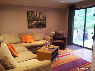 lounge in the woodland lodge