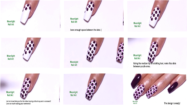 Purple and Lilac Dotting Tool Design Tutorial